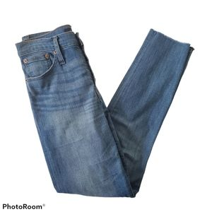 """J Crew 9"""" High-rise Toothpick Jeans Blue Size 27"""